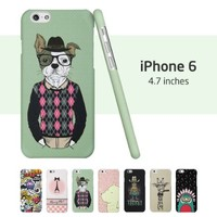 iPhone 6 Case, ESR Illustrators Series Protective Case Bumper[Anti-Slip] [Good Grip] with Aesthetic Print Hard Back Cover for 4.7 inches iPhone 6 (2014)/iPhone 6s (2015)(Mr.Wow)