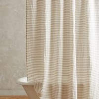 Morning Light Shower Curtain by Anthropologie in Light Grey Size: One Size Shower Curtains