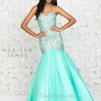 Mermaid Fitted Madison James Prom Dress 15-153