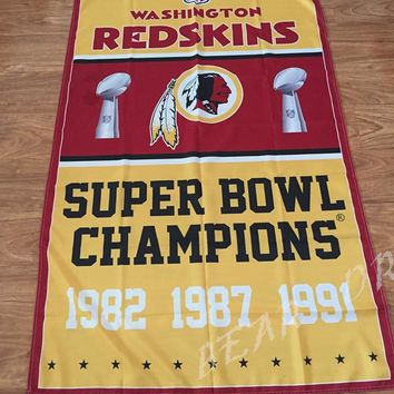 Washington Redskins Flag 3ft x 5ft Polyester NFL Washington Redskins Banner Flying Size No.4 150* 90cm Custom flag