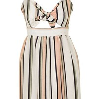 PETITE Striped Cami Mini Dress