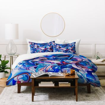 Brian Wall Fine Art Electric Blue Duvet Cover
