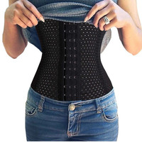 Women Trainer Breathable Waist Tummy Shaper Corset 4 Steel Boned +Free Christmas Gift -Random Necklace
