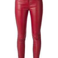 Saint Laurent Leather Skinny Trousers - Liska - Farfetch.com