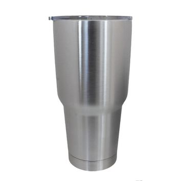 30oz cup with Lid and Black Flap