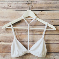 Choker Triangle Bralette (White)