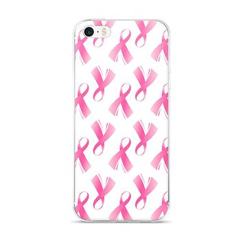 Breast Cancer Awareness Pink Ribbon iPhone 5/5s/Se, 6/6s, 6/6s Plus Case