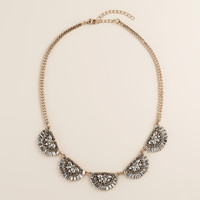 Art Deco-Style Rhinestone Statement Necklace - World Market