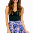 Floral Tribute Skater Skirt