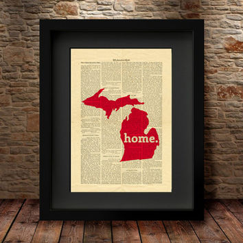 Best Michigan Map Products On Wanelo
