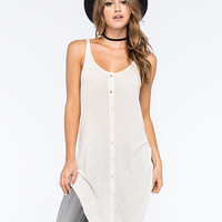 Others Follow Sleeveless Womens Woven Tunic Cream  In Sizes