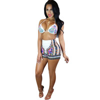 swimwear women 2017 Plus Size Swimwear Beach Swimsuit separate Size Swimwear Bodysuit Print Bathing Swimming Suit