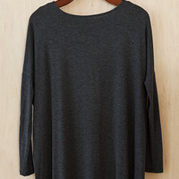 The Softest Tunic You'll Ever Meet, Charcoal
