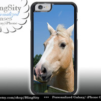 Palamino Horse Head Iphone 6 Case Photo Equine Face iPhone 5C 6 Plus 4 5 Case Equestrian Cover Skin Shell Back