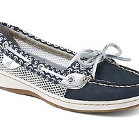 Angelfish Anchor Print Slip-On Boat Shoe