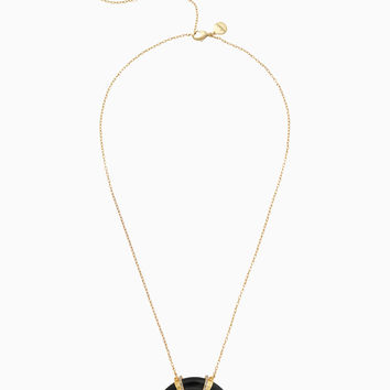 Arc Pendant Necklace - Black