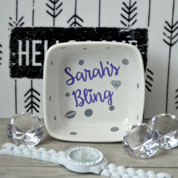 Bling Jewelry Dish / Custom Jewelry Holder
