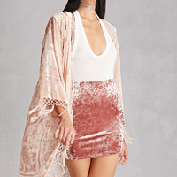JayLey Collection Velvet Kimono