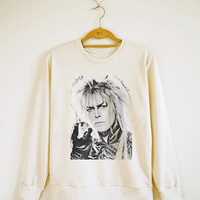 David Bowie Shirt Pop Shirt Glam Rock Shirt Sweater Shirt Sweatshirt Jumpers Shirt Long Sleeve Shirt Women TShirt Unisex TShirt Size S,M,L