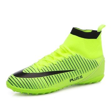 Speedfly Men Football Boots Superfly TF High Ankle FG Soccer Shoes Sock Cleats hard-weaing Sport Training Shoes Sneakers