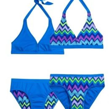 Zig Zag Stripe Bikini Swimsuit | Girls Bikinis Swimsuits | Shop Justice