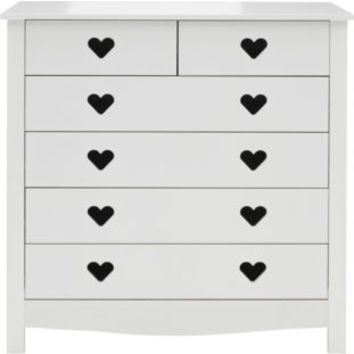 buy mia 4 2 drawer chest white at from home. Black Bedroom Furniture Sets. Home Design Ideas