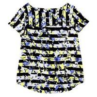 Peter Pilotto® for Target® Top -Green Floral Stripe Print