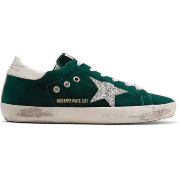 Golden Goose Deluxe Brand - Super Star glittered velvet sneakers