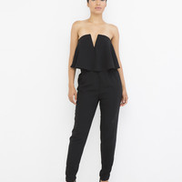 ROCK STEADY PEPLUM JUMPSUIT