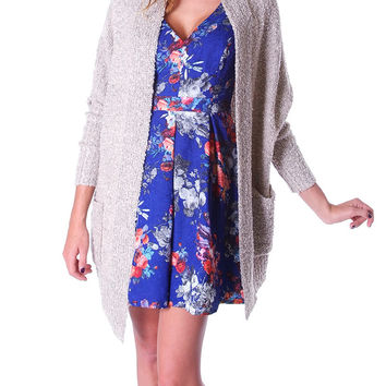 Take A Break Sweater Cardigan - Beige