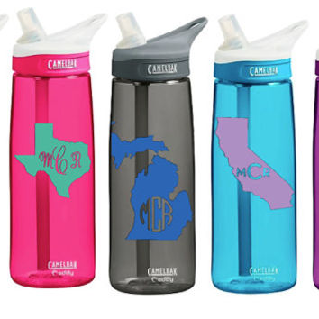 CamelBak 0.75 Eddy Personalized Monogram States Water Bottle Sports bottles Name water bottle Gift