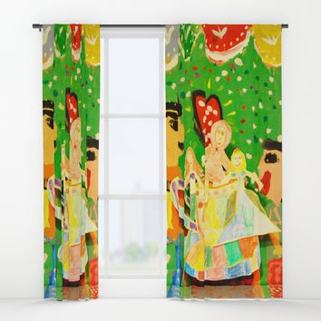 The cup of Rosalia | Full of fairy tales | Painting by Elisavet Window Curtains by Azima