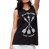 Gypsy Warrior Muscle T-Shirt - Womens Tee - Black