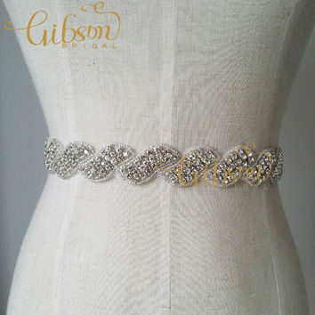 Free shipping Long Design Rhinestone Wedding Dress Belts and Sashes Accessories