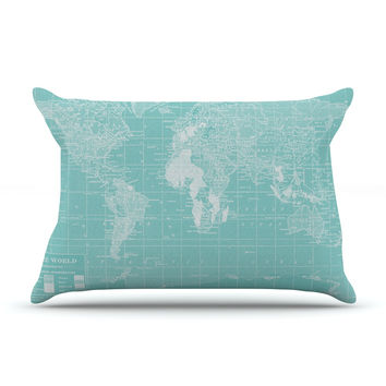"""Catherine Holcombe """"Welcome to my World"""" Pillow Case"""