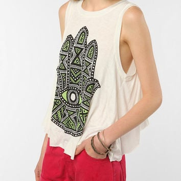 Daydreamer LA Eye See All Tulip-Back Tank