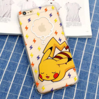 Cute Creative Pokemon Pikachu Protective Case For Iphone 6 6s plus