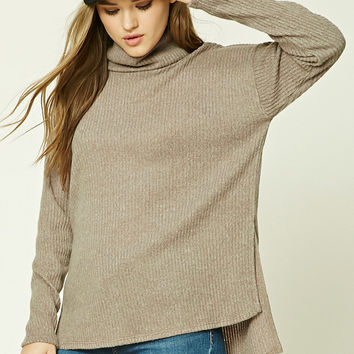 Brushed Knit Turtleneck Sweater