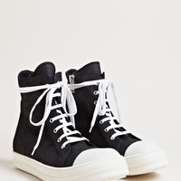 Rick Owens Men's Suede High Top Sneakers