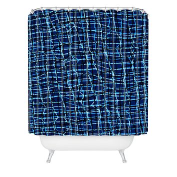 Sarah Bagshaw Criss Cross Shower Curtain