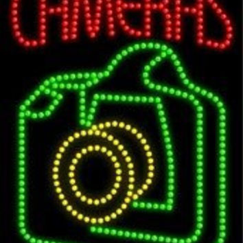 Cameras LED Sign (High Impact, Energy Efficient)