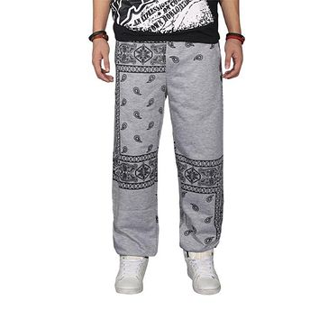 Free shipping 2017 Harajuku parkour pants Bandana Paisly Cashew Flowers Jogger pants Hip Hop Baggy Drop Crotch Sweatpants 71105