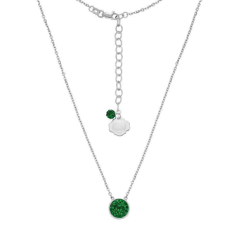 Oregon Ducks Sterling Silver Crystal Disc From Kohl S