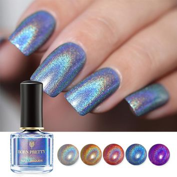 BORN PRETTY Holographic Flourish Series Nail Polish 6ml Holo Laser Glitter Nail Lacquer Varnish Polish Lacquer 16 Color