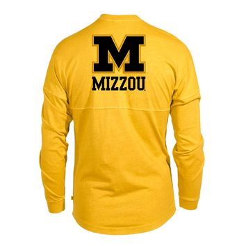 Official NCAA University of Missouri Tigers Mizzou Tigers MU Women's Long Sleeve Spirit Wear Jersey T-Shirt