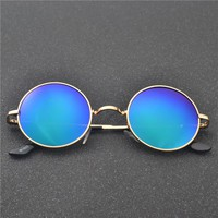 MINCL/2017 new Retro Brand Polarized Vintage Small Round Sunglasses anti uv sunglasses Men's sunglasses driving mirror FML