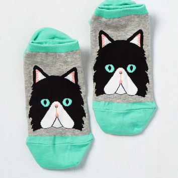 Read Paw About It Socks in Cat | Mod Retro Vintage Socks | ModCloth.com