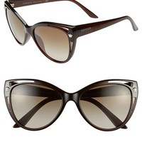 Women's Versace 'Pop Chic' 57mm Cat Eye Sunglasses