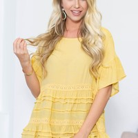 Lace Tiered Babydoll Look Top