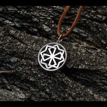 Molvinets Symbol Pagan Amulet Sterling Silver Pendant Handcrafted Jewelry